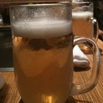 お好み焼きロック - キンキンに冷えたビール
