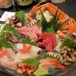 金沢 東山 鮨処 たかしま - 料理写真:宴会 お刺身盛りです