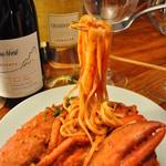 イタリアン酒場 TAKEYA - 自家製アメリケーヌソースを使ったオマール海老のトマトクリームパスタ