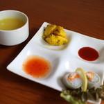マハマハ - 料理写真:手作り生春巻き&ジャガイモ&スープ☆