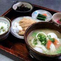 甘味茶屋 - だんご汁定食1080円