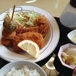 元禄鮨 - ミックスフライ定食