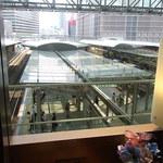 デリカフェ エキスプレス大阪 - ホームを見下ろせます☆♪