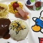 グルメハンバーグ 斉藤ファーム - わんぱくセット720円