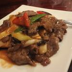 香園 - 牛肉のオイスターソース炒め