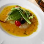リストランテ ディ・カナレット - 料理写真:2014年6月 真鯛のカルパッチョ オレンジソース