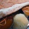 ジョティ - 料理写真:Bランチセット。チキンとキーマのベリーホット