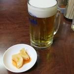 味良久 - 生ビールとお通し
