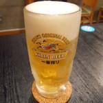唐揚げと手作り家庭料理 あおば 大井町酒場 - 生ビール