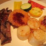 空桜 - 牛肉、彩り野菜、ホタテ、カニクリームコロッケ