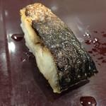 魚力寿司 - 炙り〆さば 108円