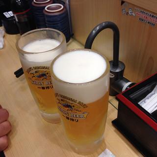 魚力寿司 海浜幕張店 - 生ビール 432円