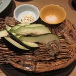 ぬる燗 佐藤 - 京都産水ナス、マヨネーズ、塩