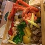 28397441 - ポロト豚ベーコンと海鮮、野菜セイロ蒸し 1,580円(税抜)