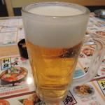 さくら水産 - 生ビール中421円