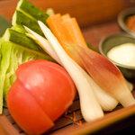 食楽幸房 - 諸味噌で 生野菜盛合せ