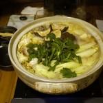 呑酔庵 味季 - Boiled food served in a big pot.