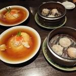 上海廊 - 天津飯+飲茶盛り合わせ