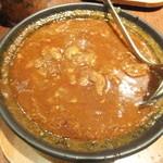 ホットスプーン - 肉2倍の牛すじ煮込みカレー ルー大盛り