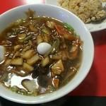 28405247 - 天鳳麺+半チャーハン1100円