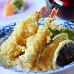 日本料理まつり - 料理写真:大海老天丼御膳
