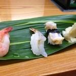 葵寿し - ★7.5ガスエビ&★7バイ貝
