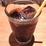 コトトワ - プレートランチ 1350円 のアイスコーヒー