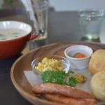 tuBU - 豆乳スープとスコーンのランチ