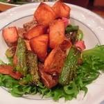 28420435 - 長野産グリーンアスパラとベーコンとジャガイモのローズマリー炒め