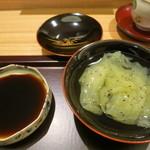 日本料理 太月 - 26年6月 キウイ葛きり