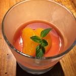 ピッツェリア ピッキ - オレンジのゼリー。締めのデザートの完成度も実に高いです。