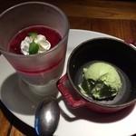 ピッツェリア ピッキ - アイスを小型のストーブに入れるセンスが素敵です(*´д`*)