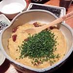 おかめ寿司 - マグロ納豆。海苔に巻いていただきます。