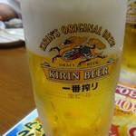 居酒屋 とうてつ - キリン一番搾り(生):380円(税抜)