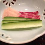四季の味 園通 - 鯨ベーコン・きゅうり