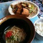 やーじ 小 - ラフテー野菜定食@950