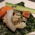 ゆう - 夏は海苔の上に載せて手巻寿司で