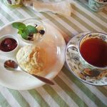 風香ガーデン - 料理写真:ケーキセットのスコーンセット