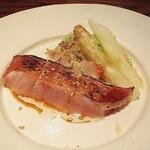 にしぶち飯店 - 炙り金目鯛の中華風カルパッチョ、ホワイトアスパラ、無花果ゴマだれ