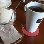 宮田屋 - 料理写真:ゆきみつアイスとアイスコーヒー