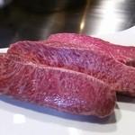 横浜うかい亭 - うかい牛ランプステーキ調理前。