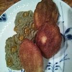 横浜うかい亭 - 焼き菓子(マドレーヌと紅茶クッキー)。