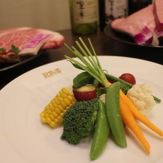 産地にこだわった野菜や魚を使った料理も種類豊富にご用意☆