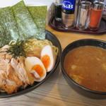 宮本 - 「濃厚魚介のせのせつけ麺」(950円)