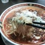 中華麺食堂かなみ屋 - 四川麻婆担々麺の麺