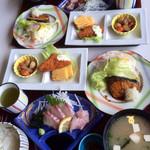 レストラン大博 - お魚定食が配膳されました。