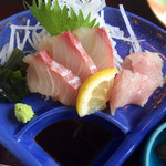レストラン大博 - お魚定食のお刺身。