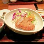 やさい家めい - キャベツメンチカツ定食¥990