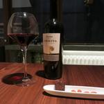 つもん - ワインとお通し。