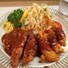 とんが - 料理写真:とんがのミックス定食、ロースカツとエビフライ3本1500円(14.06)